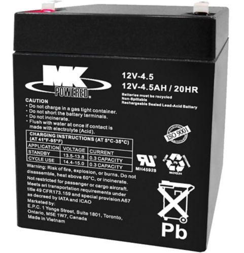 12-Volt 4.5AH SLA Battery