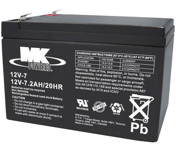 Batterie au plomb-acide scellée 12 V 7,2 Ah