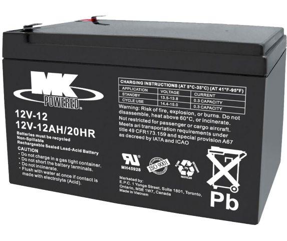 Batterie au plomb-acide scellée 12 V 12 Ah