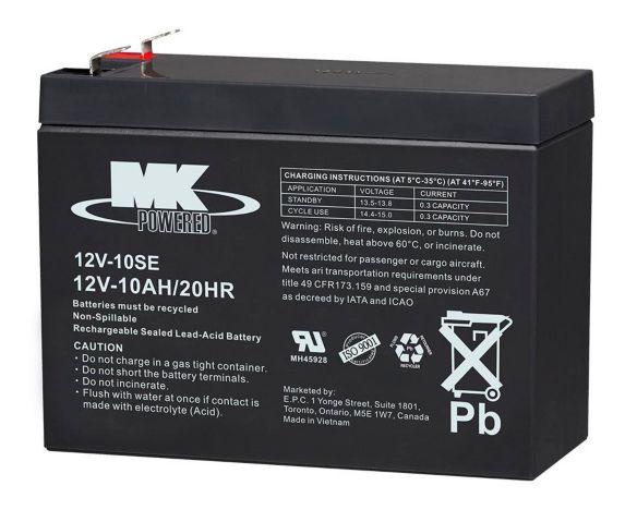 Batterie au plomb-acide scellée rechargeable, 12 V 10 Ah