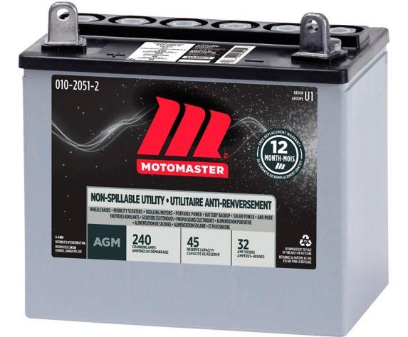 MotoMaster 12-volt 32AH Group U1 SLA Battery