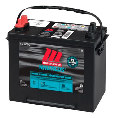 Batterie de démarrage MotoMaster Nautilus groupe 24, 675 A au démarrage