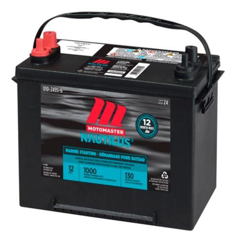 Batterie de démarrage MotoMaster Nautilus, groupe 24, 1000 A au démarrage