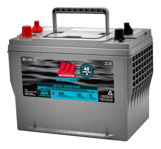MotoMaster Nautilus Ultra XD Group 24 High Performance AGM Deep Cycle Battery