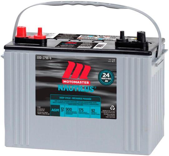 MOTOMASTER NAUTILUS AGM Group Size 27 Battery Product image