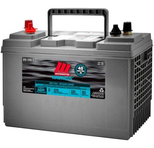 Batterie décharge poussée MotoMaster Nautilus UltraXD 31 AGM