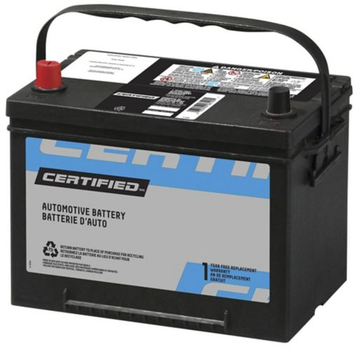 CERTIFIED Group Size 34 Battery, 600 CCA