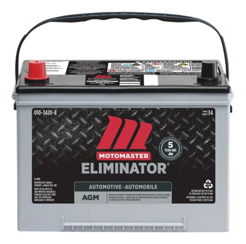 MOTOMASTER ELIMINATOR AGM Group Size 34 Battery, 750 CCA