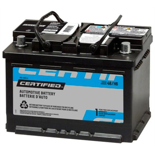 CERTIFIED Group Size 48 (H6/L3) Battery, 615 CCA