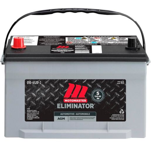 Batterie MOTOMASTER ELIMINATOR AGM, groupe 65, 750 ADF