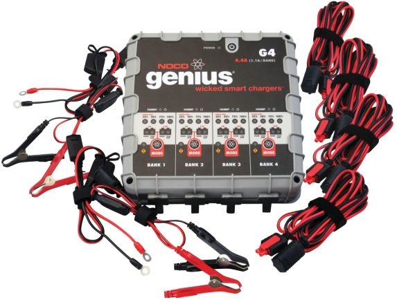 NOCO Genius G4 4-Bank Smart Battery Charger