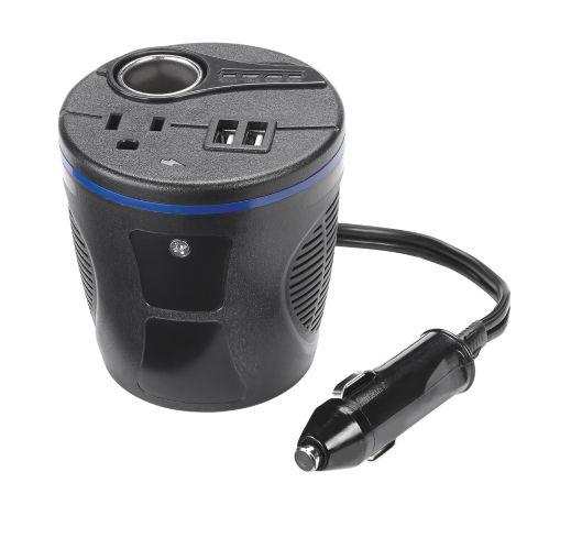 MotoMaster 150W Mobile Cup Holder Power Inverter