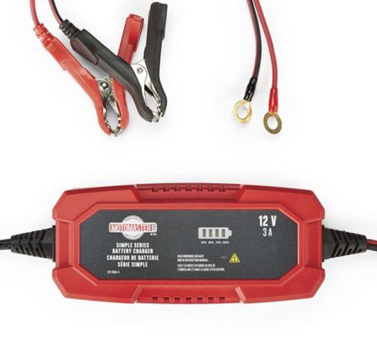 Chargeur de batterie et accumulateur MotoMaster série simple, 3 A