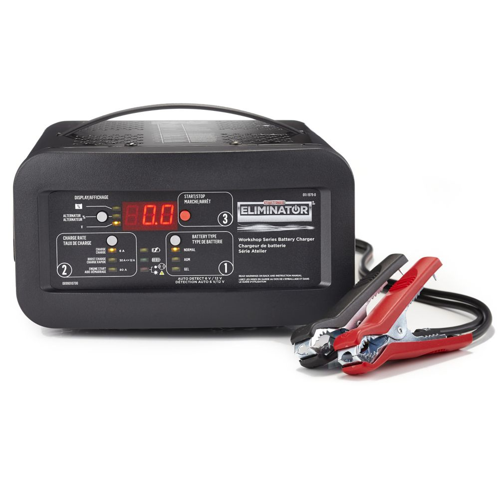 MotoMaster Eliminator Workshop Series 12/6A Battery Charger with 80A Engine Start