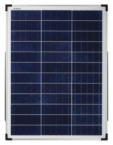 NOMA 50W Crystalline Solar Kit with Stand & Charge Controller