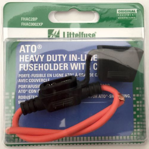 Littelfuse Heavy Duty 30A ATO In-Line Fuseholder with Cover