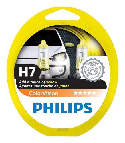 H7 YellowPhilips ColorVision Headlight Bulbs, 2-pk