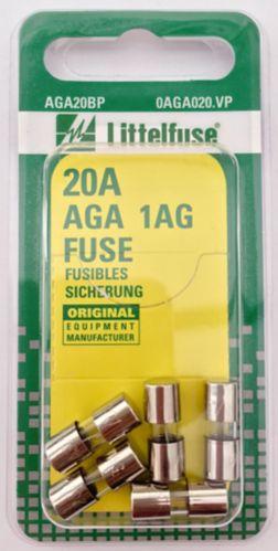 Fusibles en verre Littelfuse 20 A AGA, paq. 5