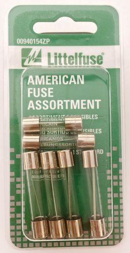 Littelfuse North American Glass Fuse Assortment, 6-pk