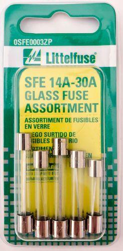 Fusibles en verre Littelfuse SFE, 14A-30A, paq. 5