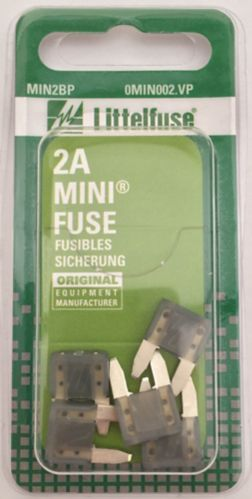 Fusibles Littelfuse, MINI, 2 A, paq. 5