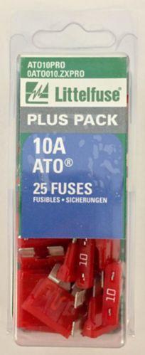 Littelfuse 10A ATO Fuse, 25-pk