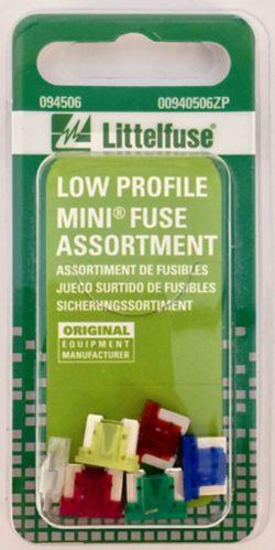 Fusibles Littelfuse, MINI, profil bas, variés, paq. 6