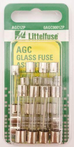 Fusibles en verre Littelfuse AGC, variés, paq. 15