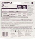 Ampoules de phare H7 Sylvania XtraVision, paq. 2   Sylvania   Canadian Tire