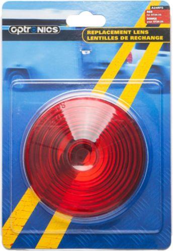 Lentille de rechange ronde Optronics, rouge