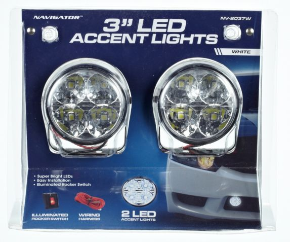 3-in Round 4 LED Accent Lights
