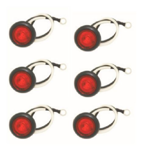 MotoMaster LED Penny Light Kit, Red, 6-pk Product image