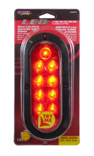 Blazer 6-in LED Oval Stop/Tail/Turn Light With Flange