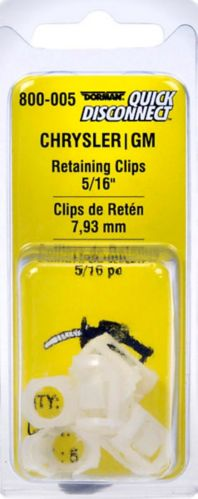 Dorman Fuel Line Retaining/restraining Clips, White, 5/16-in Product image