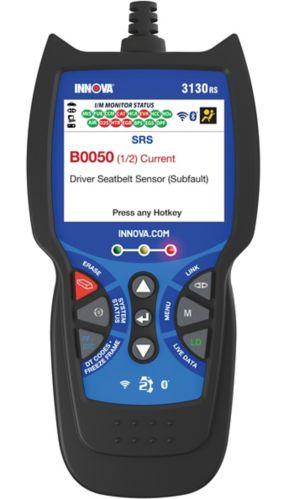 Outil d'analyse/lecteur de code Innova 3130RS OBD2 avec ABS, SRS et balayage de réseau