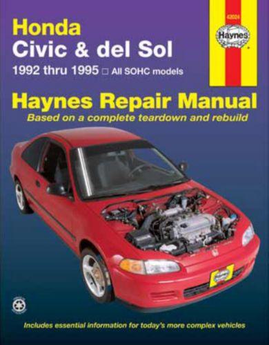 Haynes Automotive Manual, 42024 Honda Civic 92-95