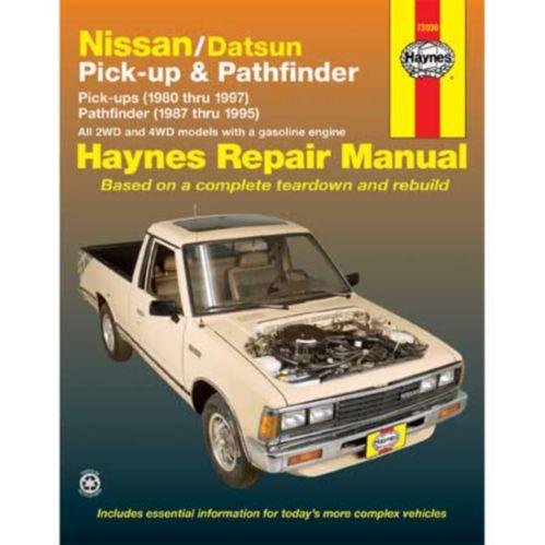 Haynes Automotive Manual, 72030 Nissan/Datsun P/U 80-97 Path 87-95