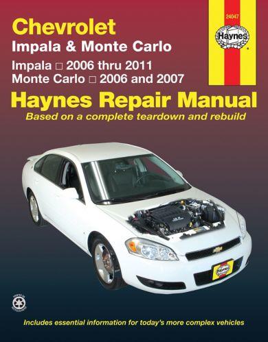 Manuel de réparation Haynes, Chevrolet Impala 2006-2007 et Monte Carlo 2006-2007, 24047
