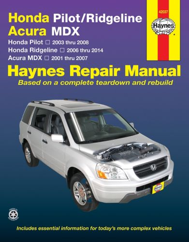Haynes Honda Pilot Repair Manual, 42037, 2003-2007