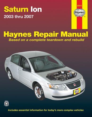 Manuel de réparation Haynes, Saturn ION, 87011, 2003-2007