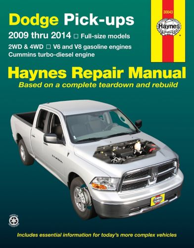 Haynes Repair Manual, Dodge Pick-Up, 2009-2014