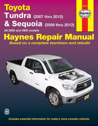 Haynes Repair Manual, Toyota Tundra, 2007-2012 and Sequoia, 2008-2012