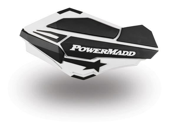 Protège-mains PowerMadd Sentinel pour motoneige, blanc/noir