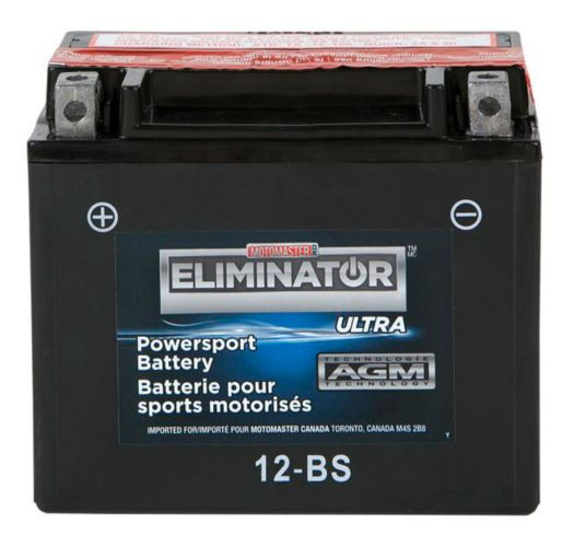 MOTOMASTER ELIMINATOR AGM Powersports Battery, 12-BS