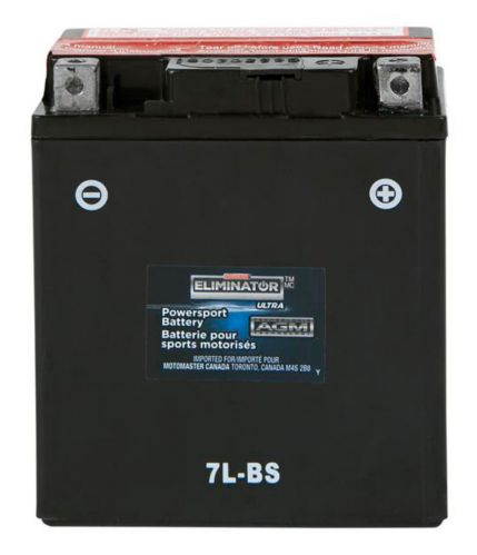 MOTOMASTER ELIMINATOR AGM Powersports Battery, 7L-BS