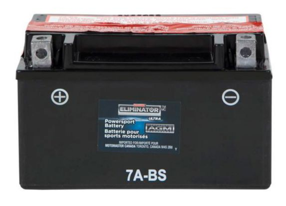 MOTOMASTER ELIMINATOR AGM Powersports Battery, 7A-BS