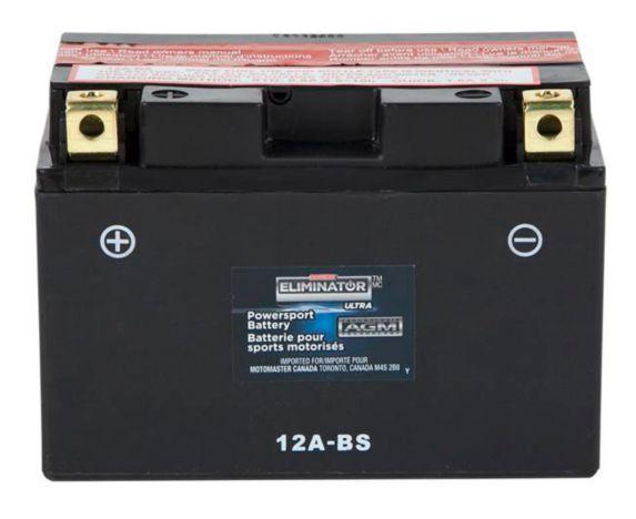 Batterie MOTOMASTER ELIMINATOR AGM pour véhicules de sports motorisés, 12A-BS