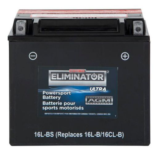 MOTOMASTER ELIMINATOR AGM Powersports Battery, 19L-BS Product image