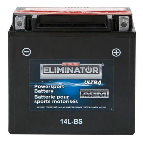 Batterie MotoMaster Eliminator Ultra AGM, sport motorisé, 14L-BS
