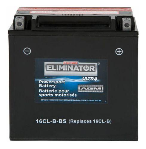 MotoMaster Eliminator Ultra AGM Powersports Battery, 16CL-B-BS